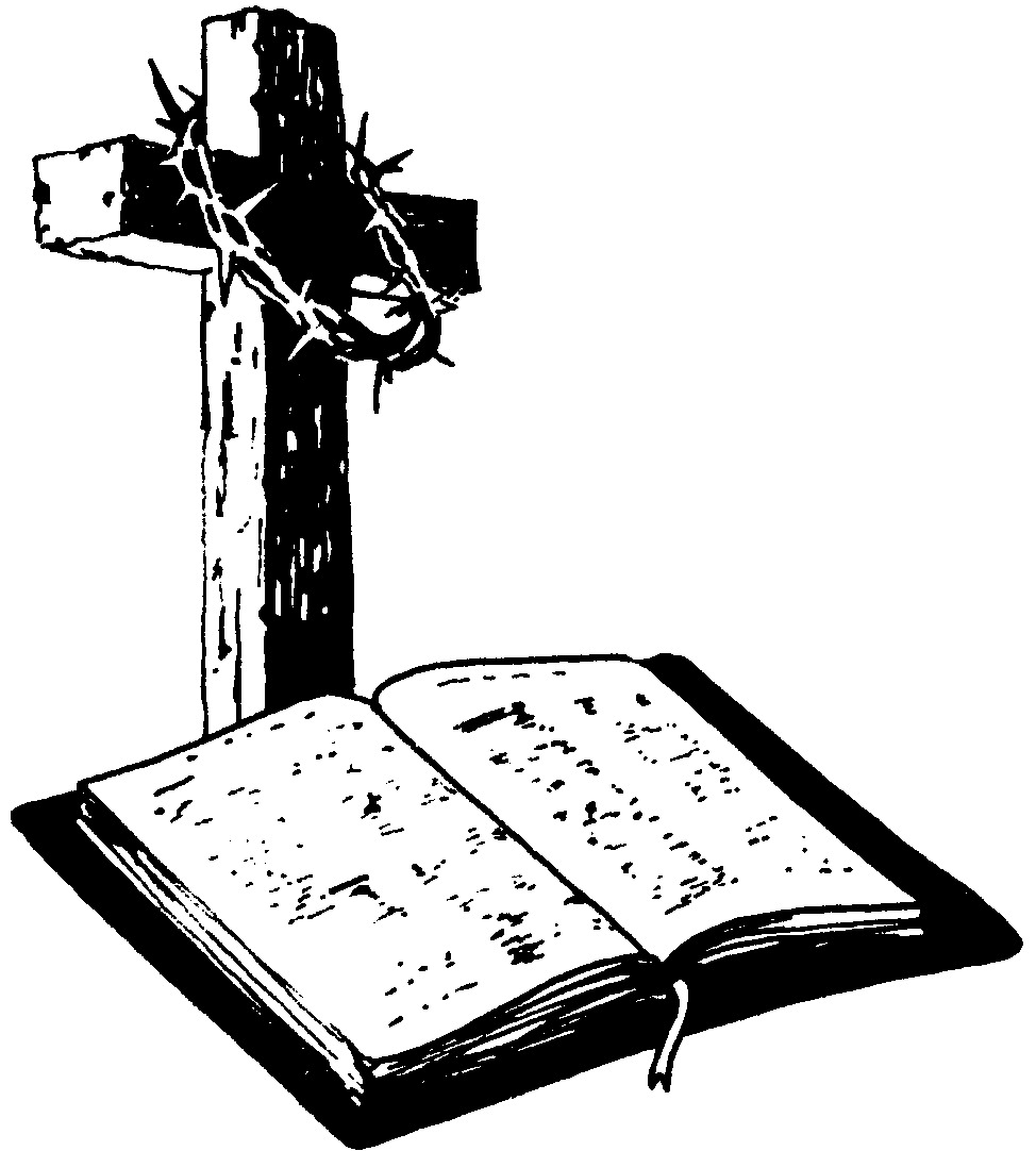 Bible And Cross - Cliparts.co