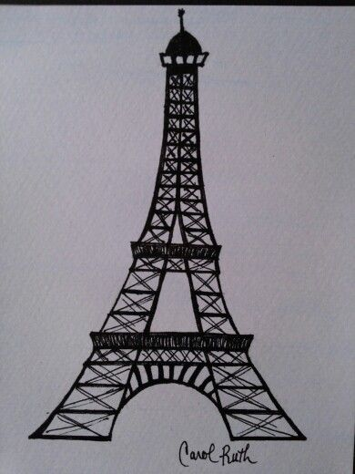 eiffel tower drawing clipartsco