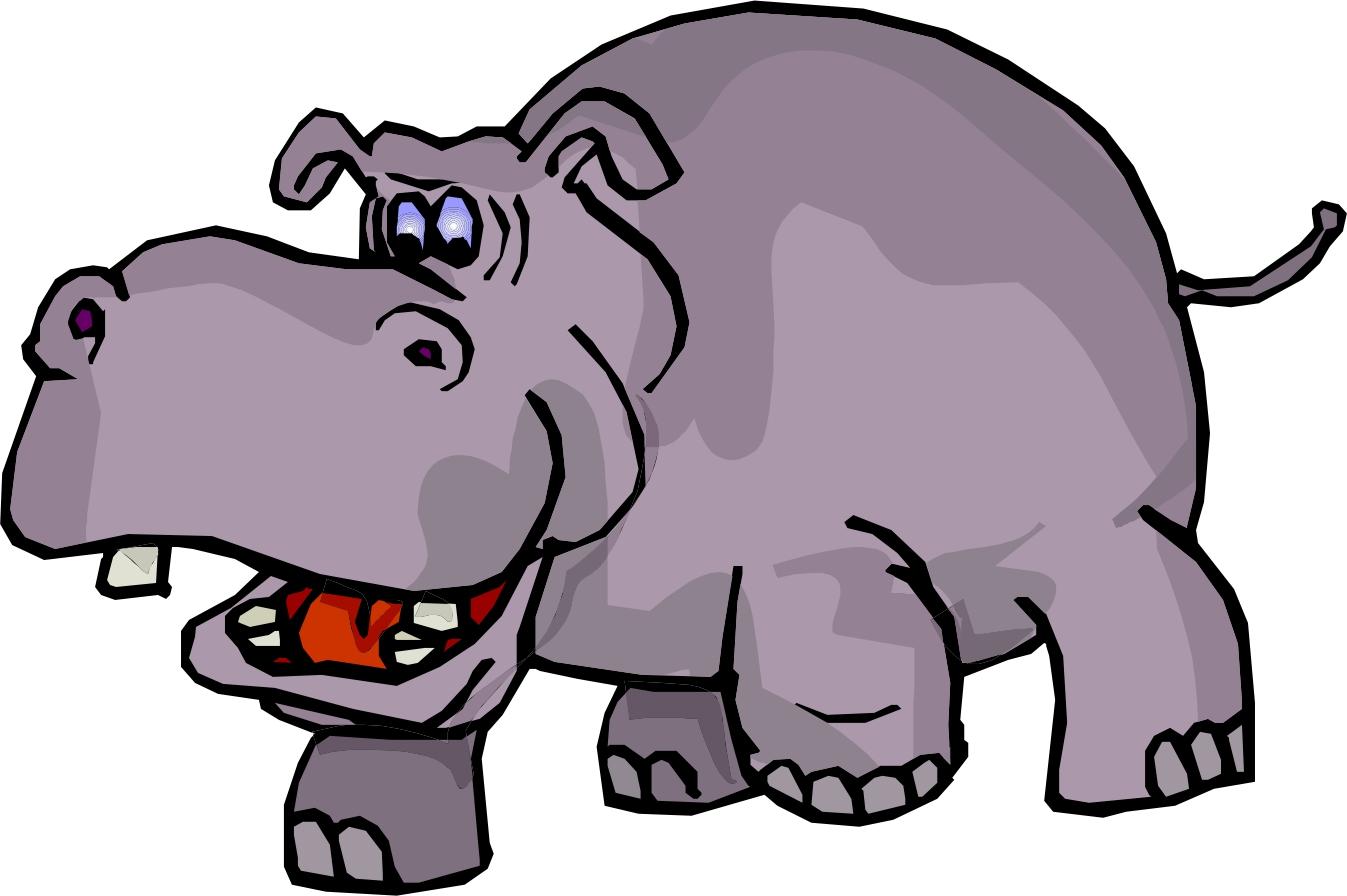 baby hippo clipart - photo #17