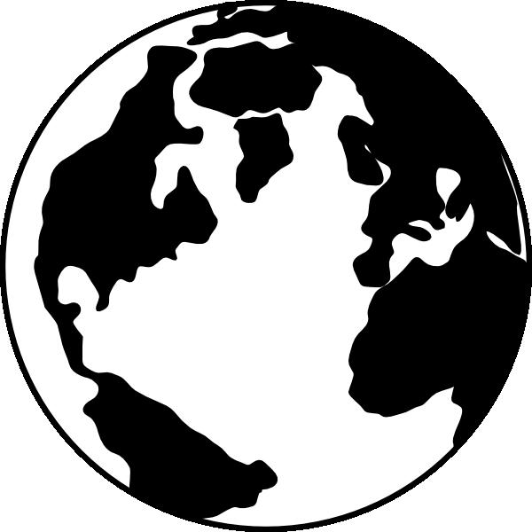 Black And White Globe Clip Art