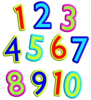 Clip Art Numbers 1 10 on Number Bonds To 10