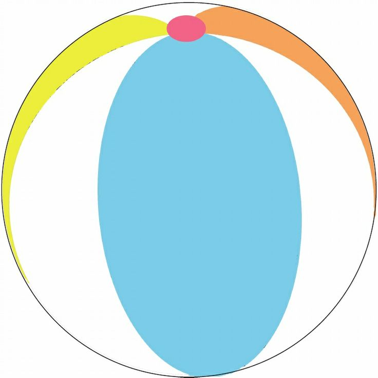 Beach Ball Coloring Pages Clipartsco