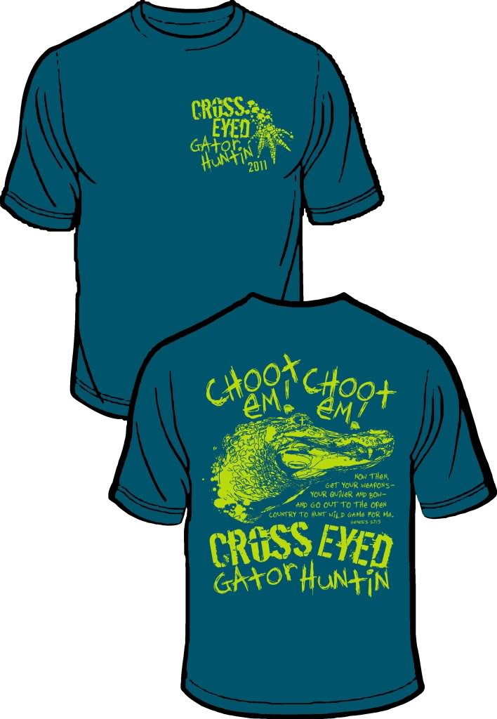 Gator hunt team t shirts 2011 mississippi hunting and for Fishing team shirts
