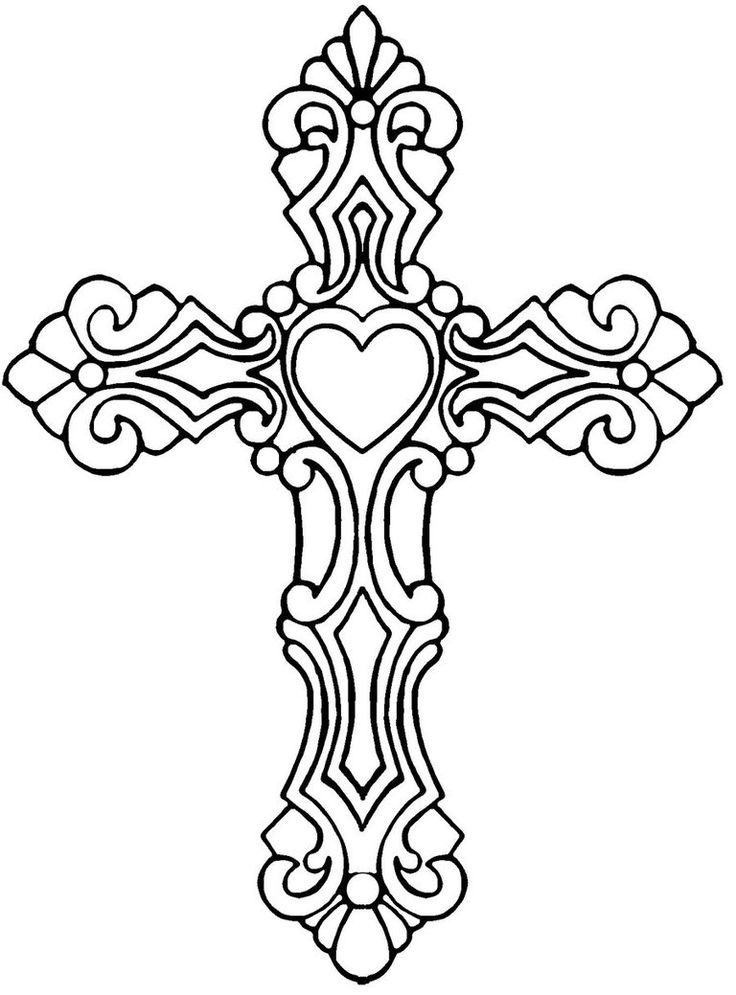 coloring pages of tattoo crosses | Hearts And Stars Tattoo Designs - Cliparts.co