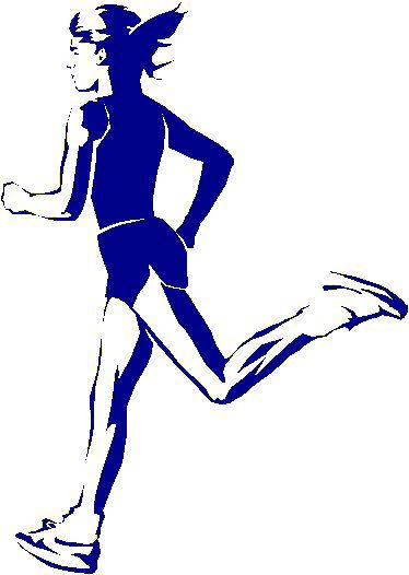Girl Running Shoes Clipart