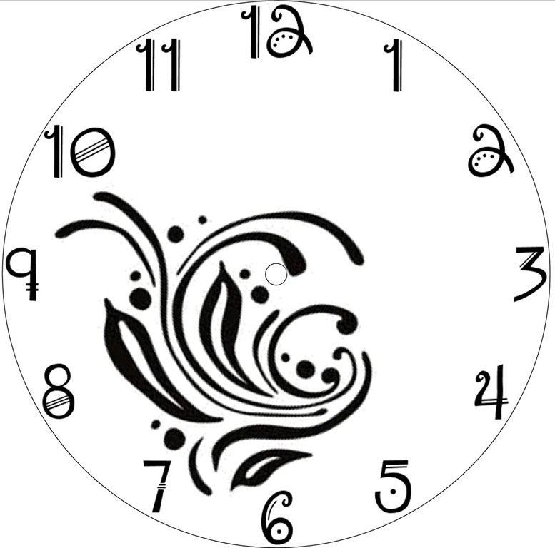 Free Clock Face Template