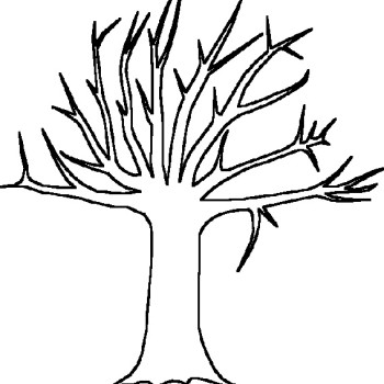Fall Trees Coloring Pages Falling Leaves Online Coloring Page