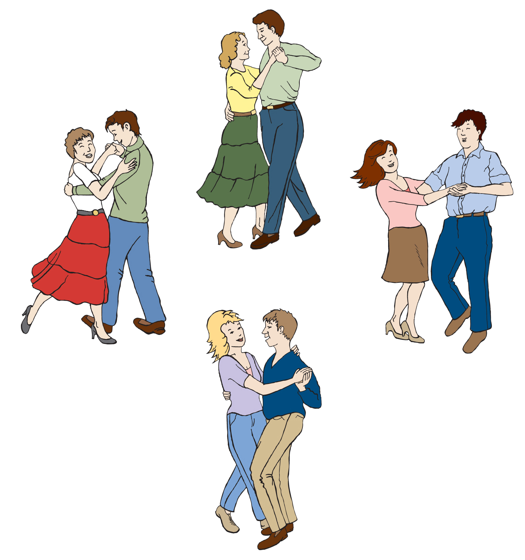 Square Dance Clip Art Free - Cliparts.co
