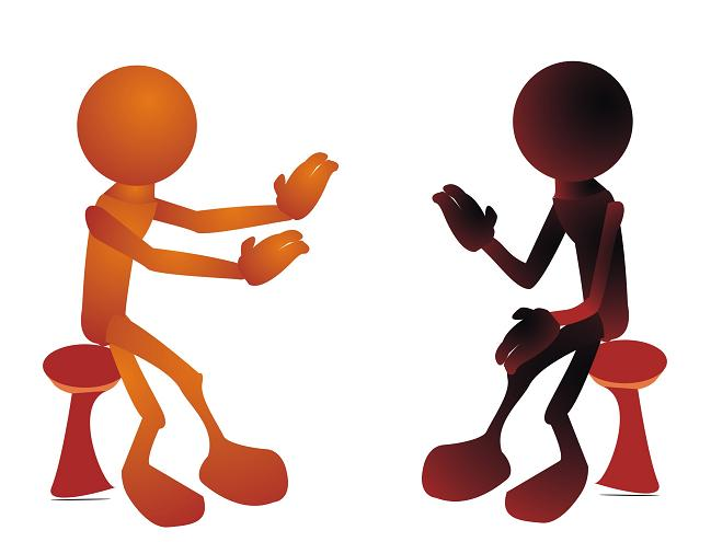 Two People Talking Clipart - Cliparts.co