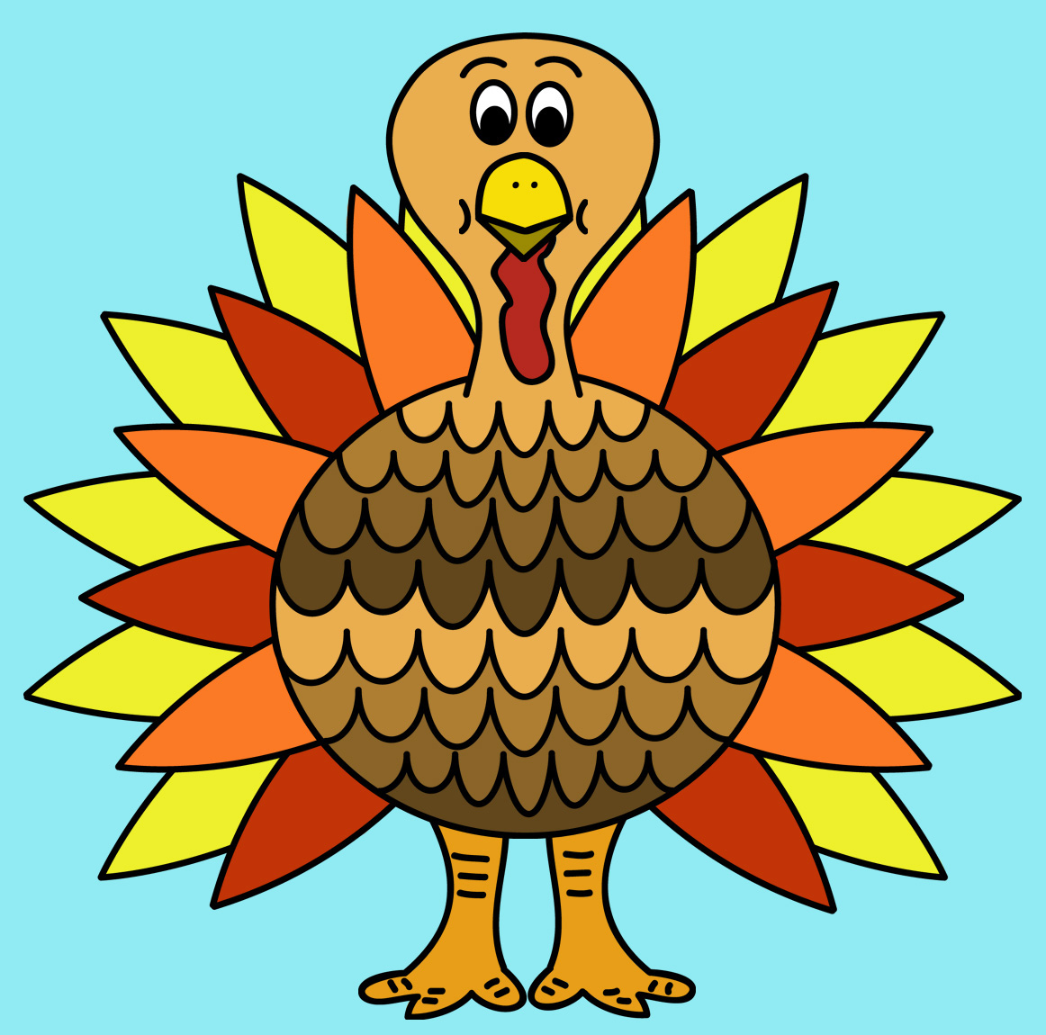 Coloring pages already colored - How To Color A Turkey