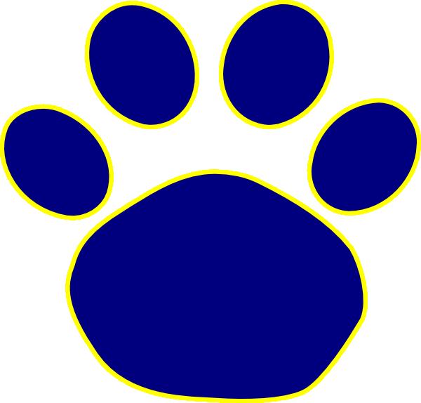 Bulldog Paw Print Clip Art - Cliparts.co