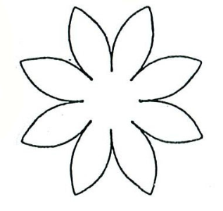 Download free template for daisy flower trucdetacontka for Daisy cut out template