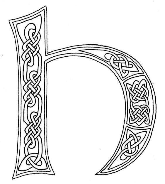 celtic alphabet coloring pages - photo#33