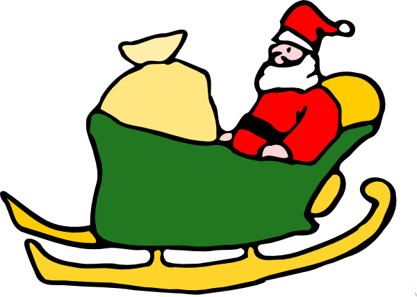 Christmas Sleigh Pictures - Santas Sleigh Clipart - Free Transparent PNG Clipart  Images Download