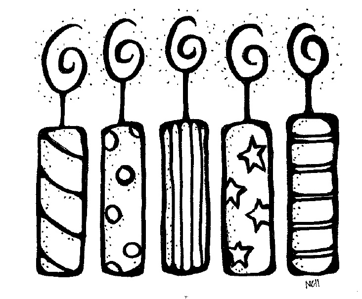Birthday Candle Clipart Black And White Panda Free