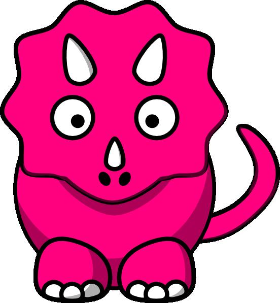 Pink Baby Dinosaur clip art - vector clip art online, royalty free ...