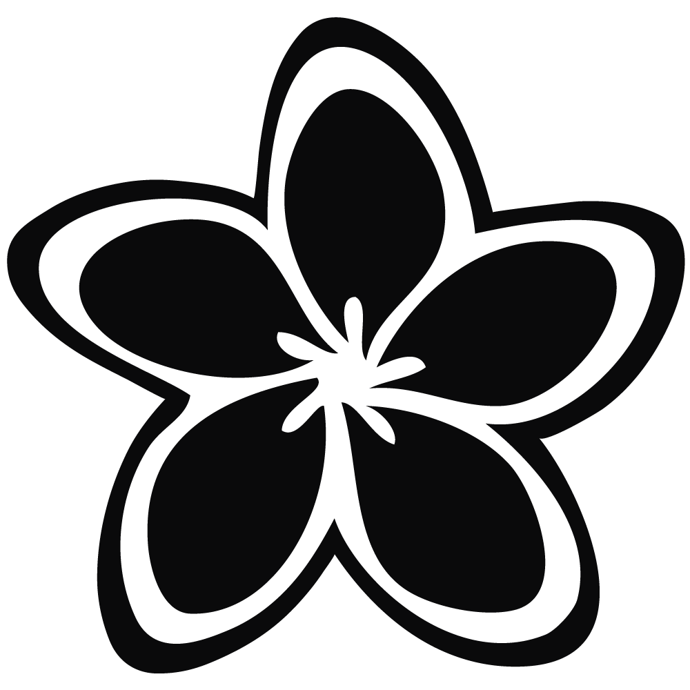 Clip Art Black And White Plumeria Clipart