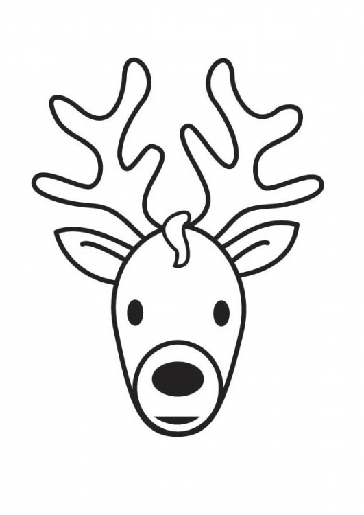 reindeer coloring pages head - photo#22