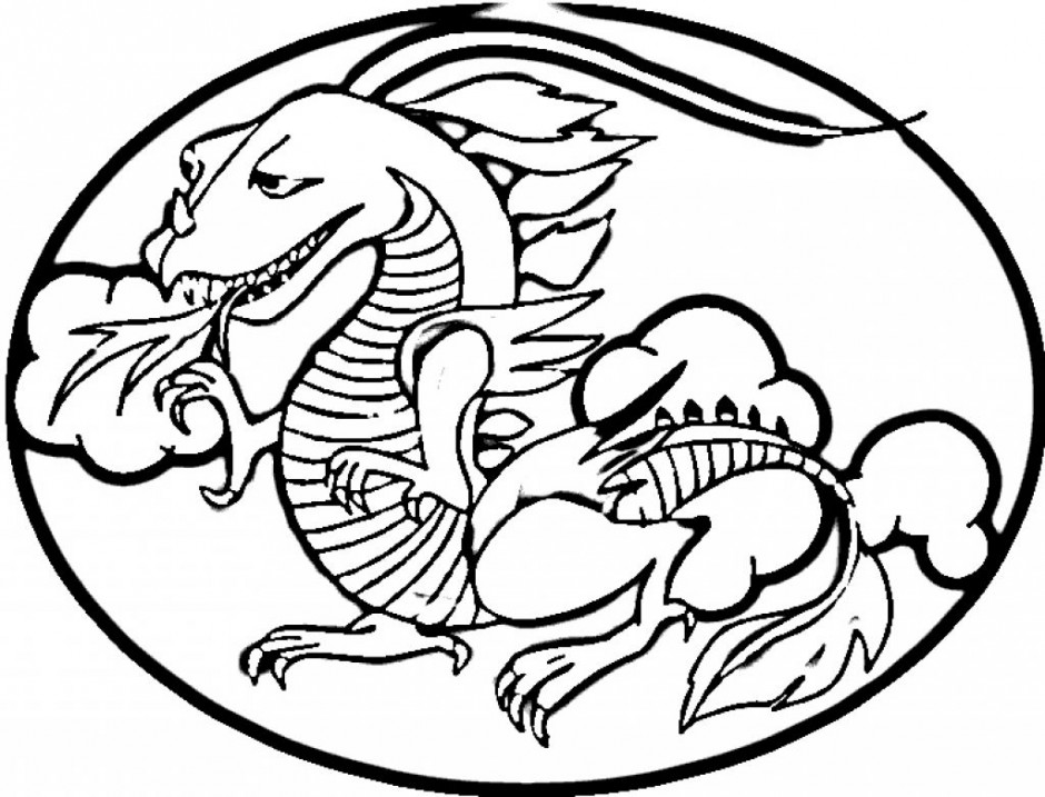 Scary Dragon Pictures Clipart Best Scary Dragon Coloring Pages ...