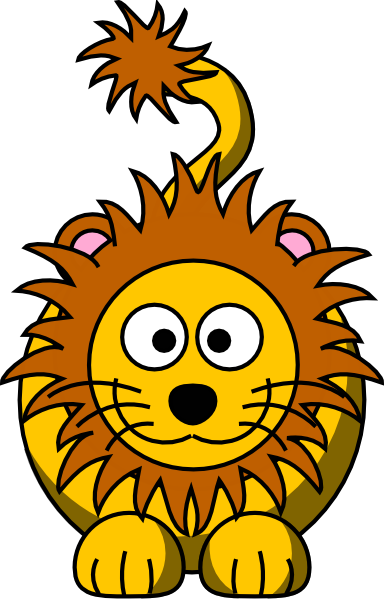 Cartoon Golden Lion clip art - vector clip art online, royalty ...