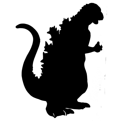 Godzilla Silhouette Vector Free - ClipArt Best