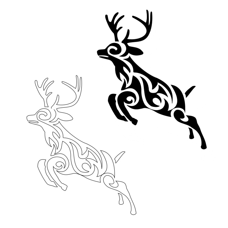 the gallery for deer track tattoos. Black Bedroom Furniture Sets. Home Design Ideas