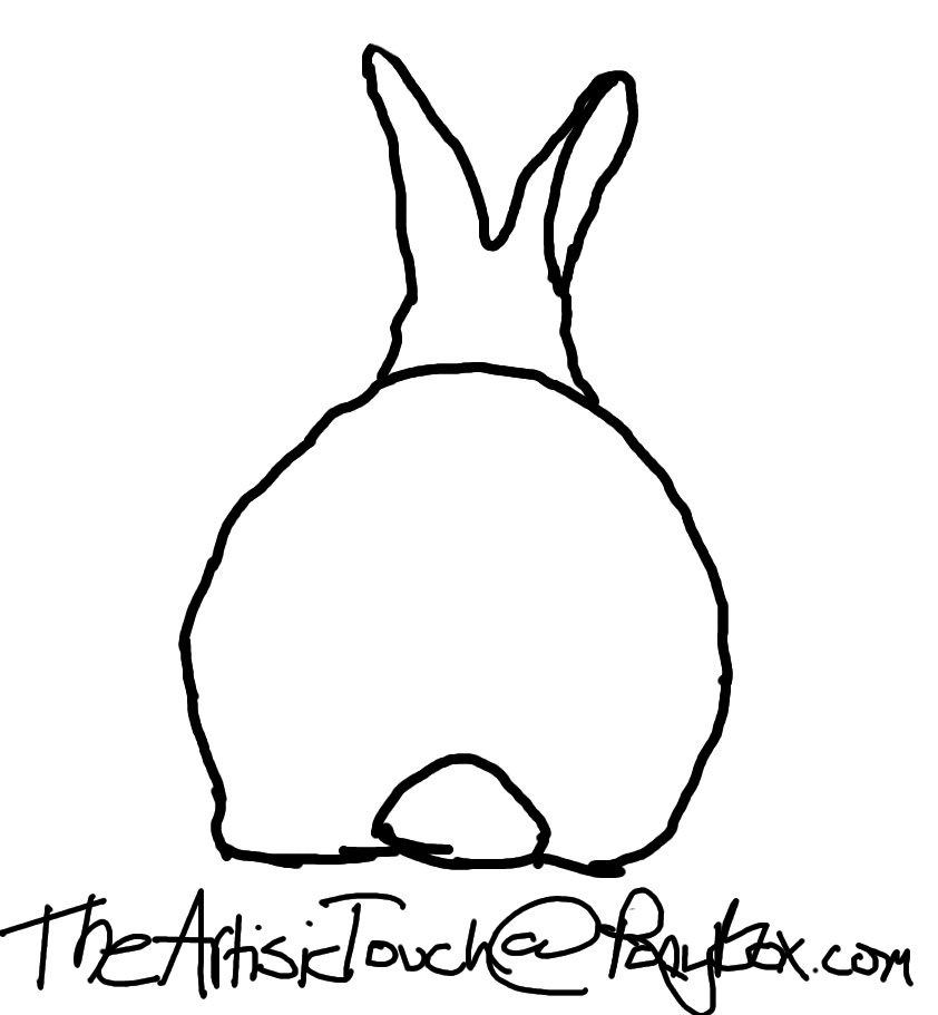 Line Drawing Rabbit : Rabbit line art cliparts
