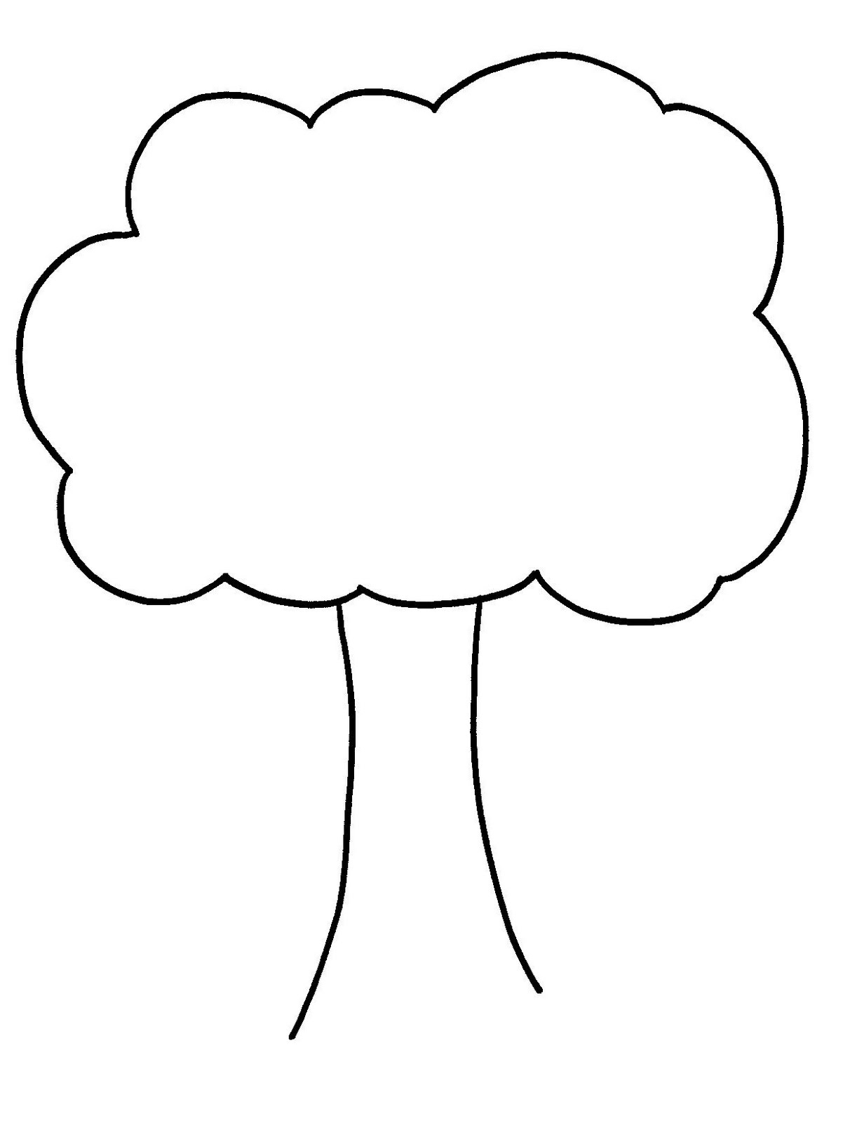 Bare tree template for Preschool family tree template