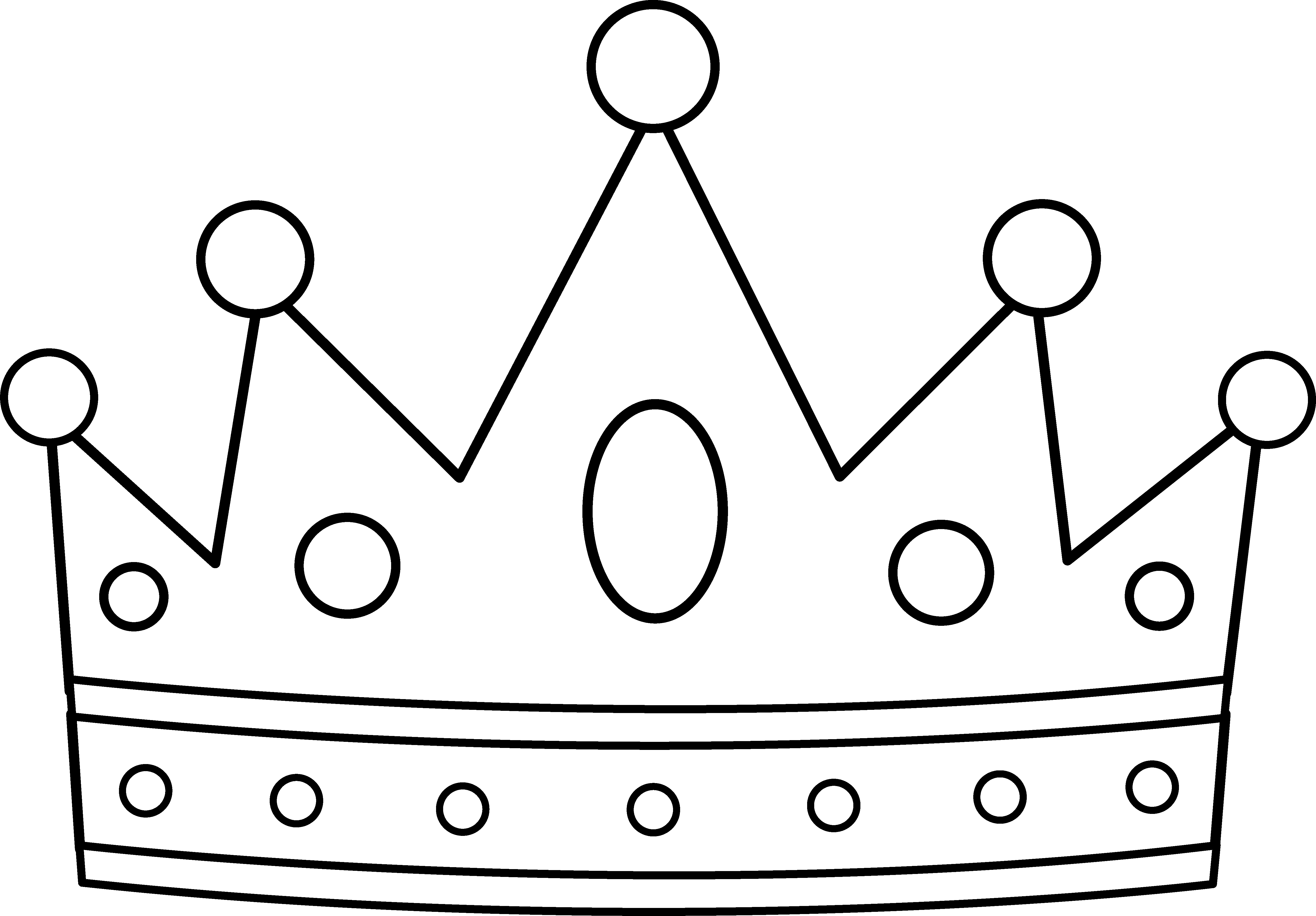 Royal Crown Coloring Page - Free Clip Art