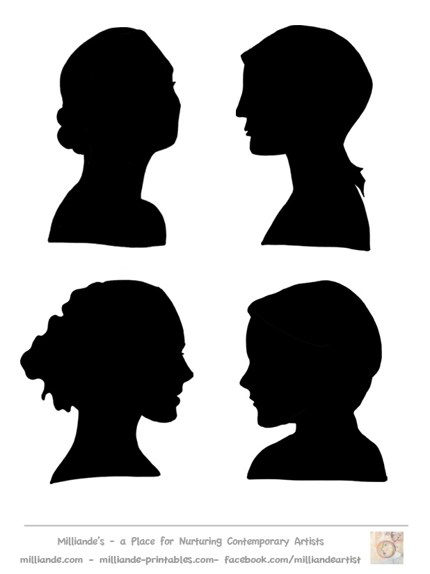 woman profile silhouette clipartsco