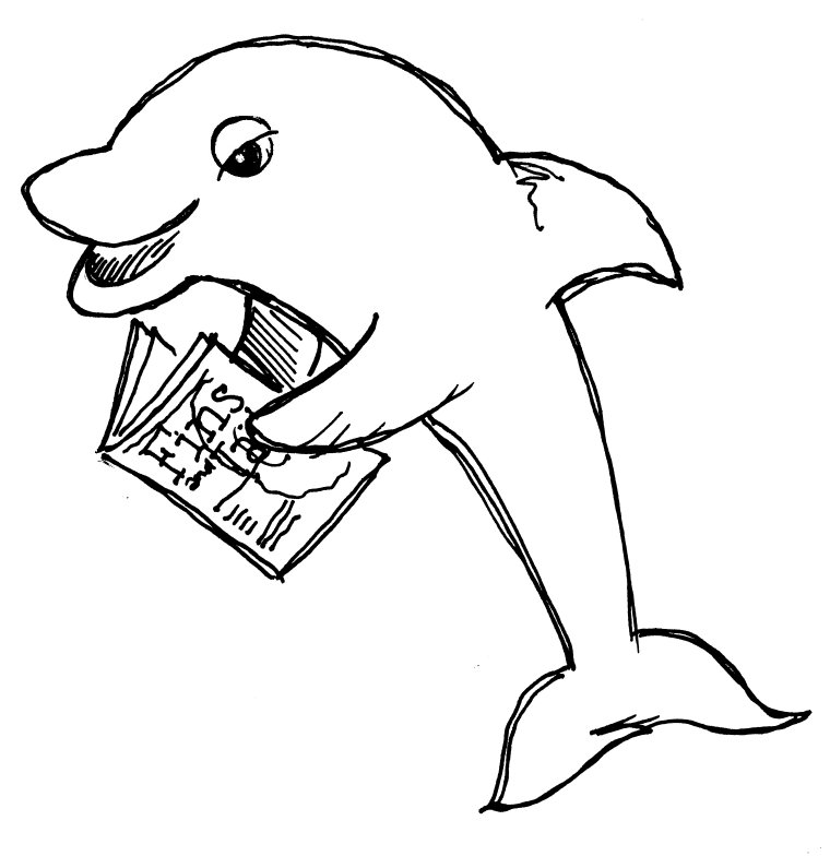 Dolphins Drawings Black And White Black And White Dolphi...