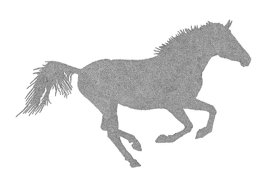 Running horse drawing easy - photo#18