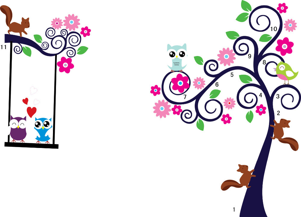 Owl cartoon wallpaper - Dibujos para habitaciones de bebes ...