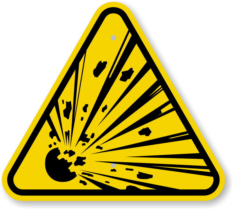 ISO Explosive Material Warning Sign Symbol - Best Prices, SKU: IS ...