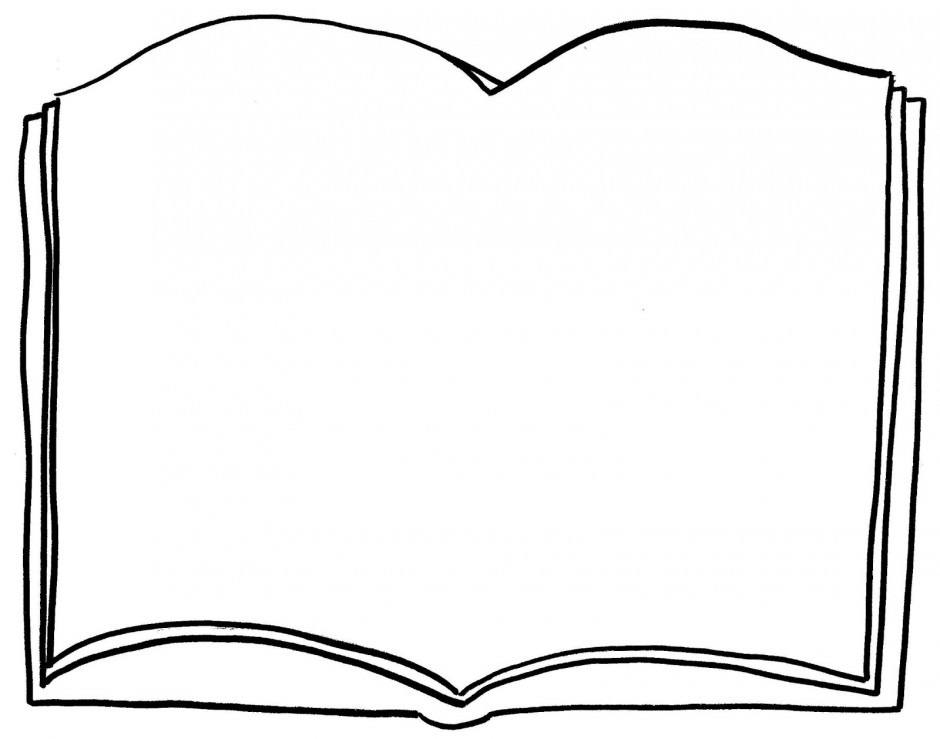 Free Open Book Coloring Pages Book Colouring Pages