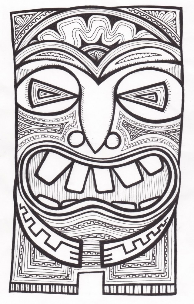 Tiki Coloring Pages - GetColoringPages.com | 1003x640