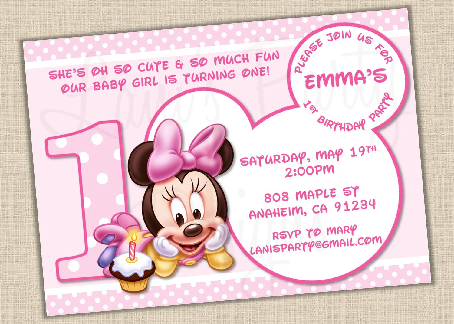 Pictures of baby minnie mouse invitations kidskunstfo create free printable minnie mouse baby shower invitations minnie mouse baby cliparts filmwisefo