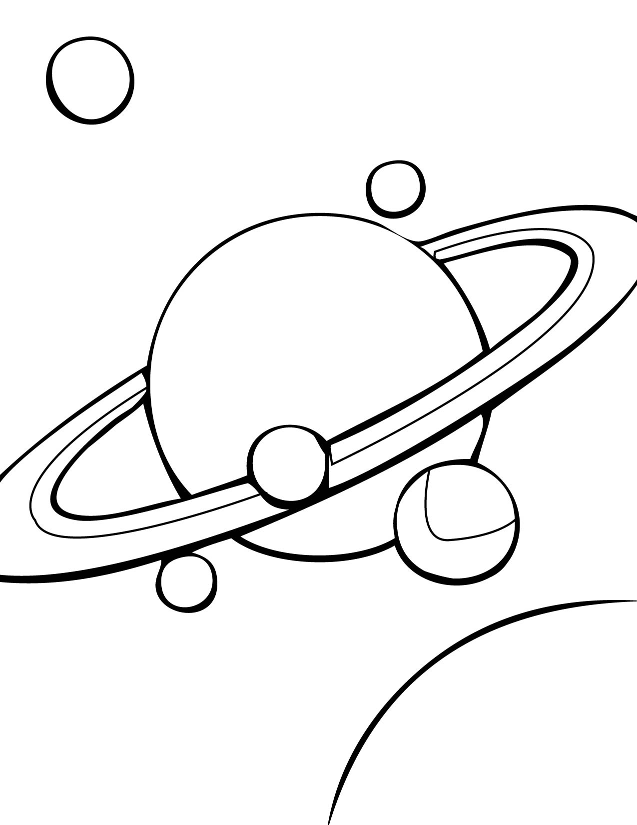 solar system black and white clipart - photo #4