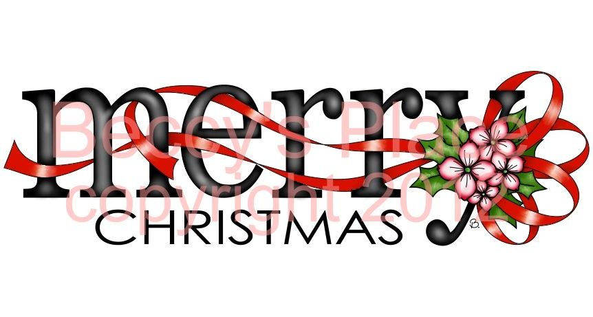 Beccy's Place: Merry Christmas Word Image