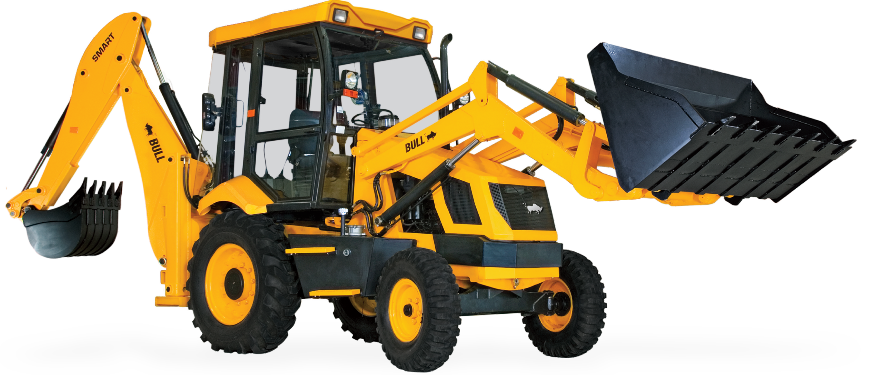 Bull Smart - Backhoe Loader - Cliparts.co
