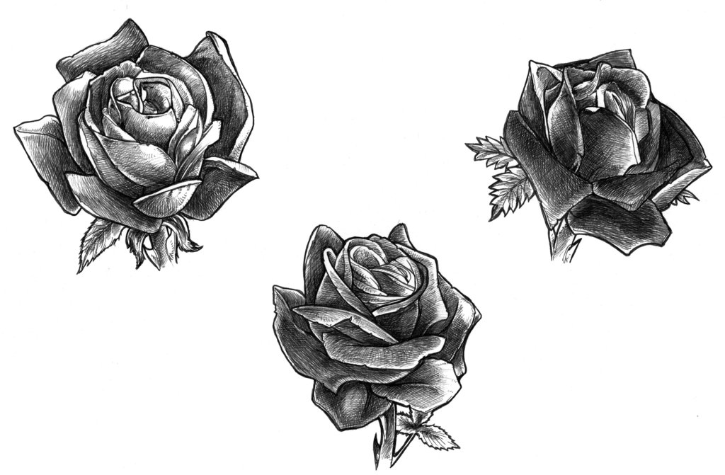 Flower Tattoo Design Black And White Flowers Healthy