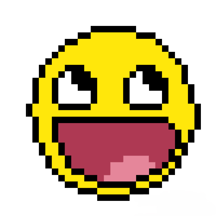 DeviantART: More Like Pixelated Awesome Smiley Face