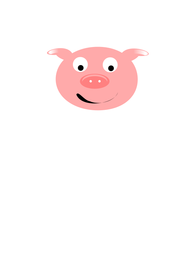 free clip art pink pig - photo #35