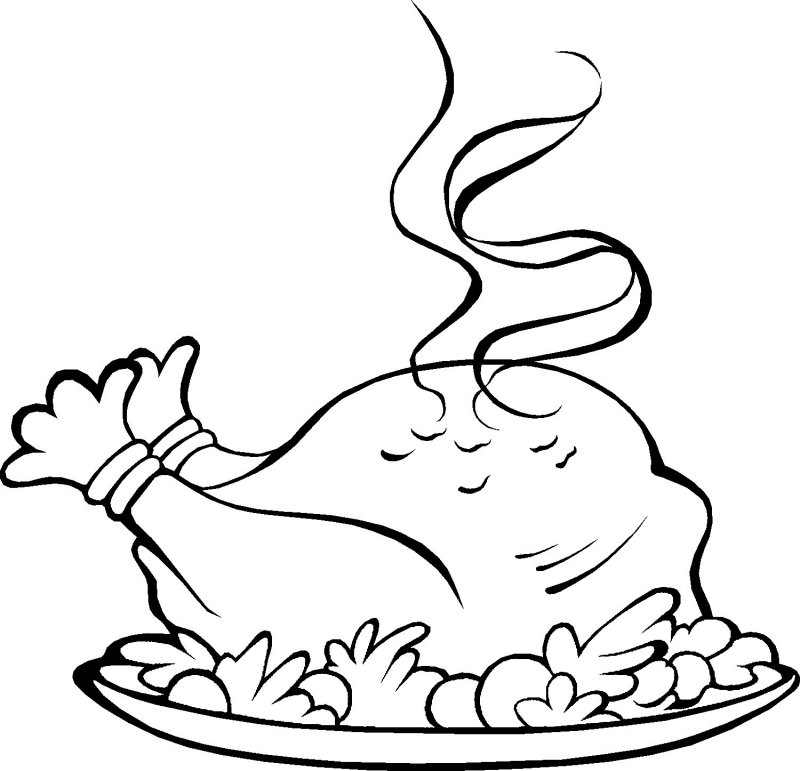 Coloring Pages Of Thanksgiving Dinner