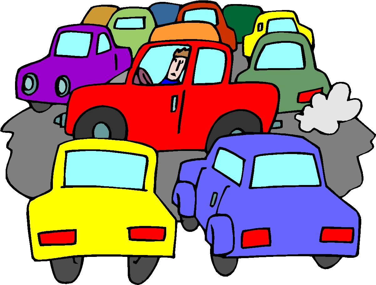 bad traffic clipart