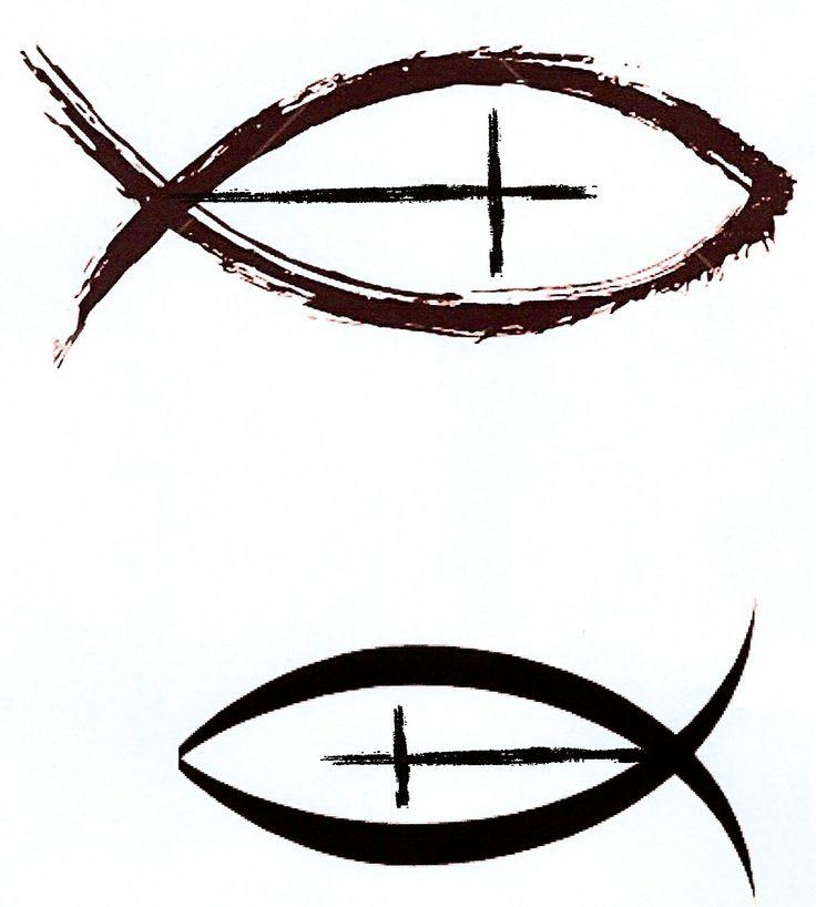 Jesus fish symbol with cross