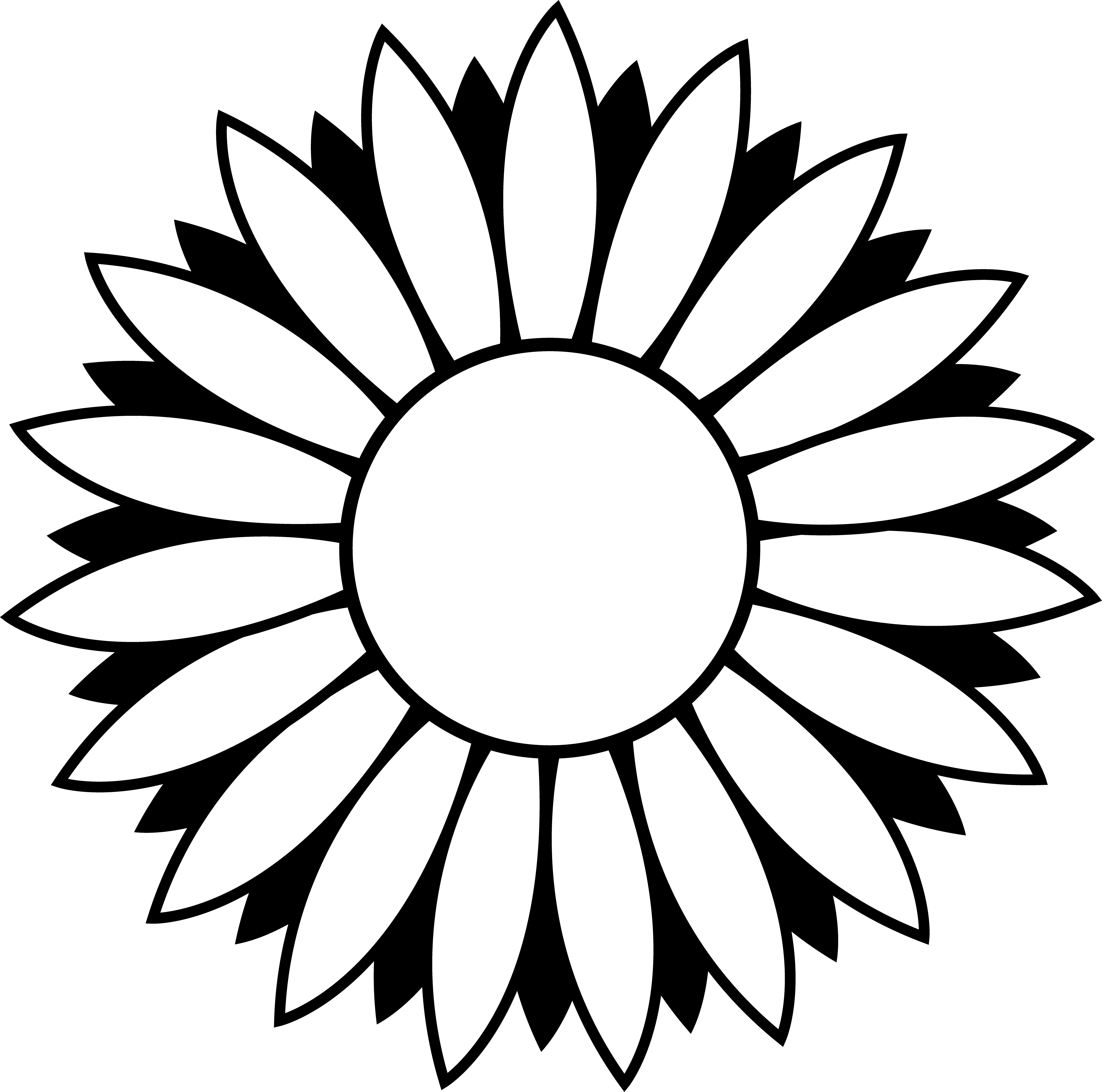 Sunflower Clipart Black And White Border | Clipart Panda - Free ...
