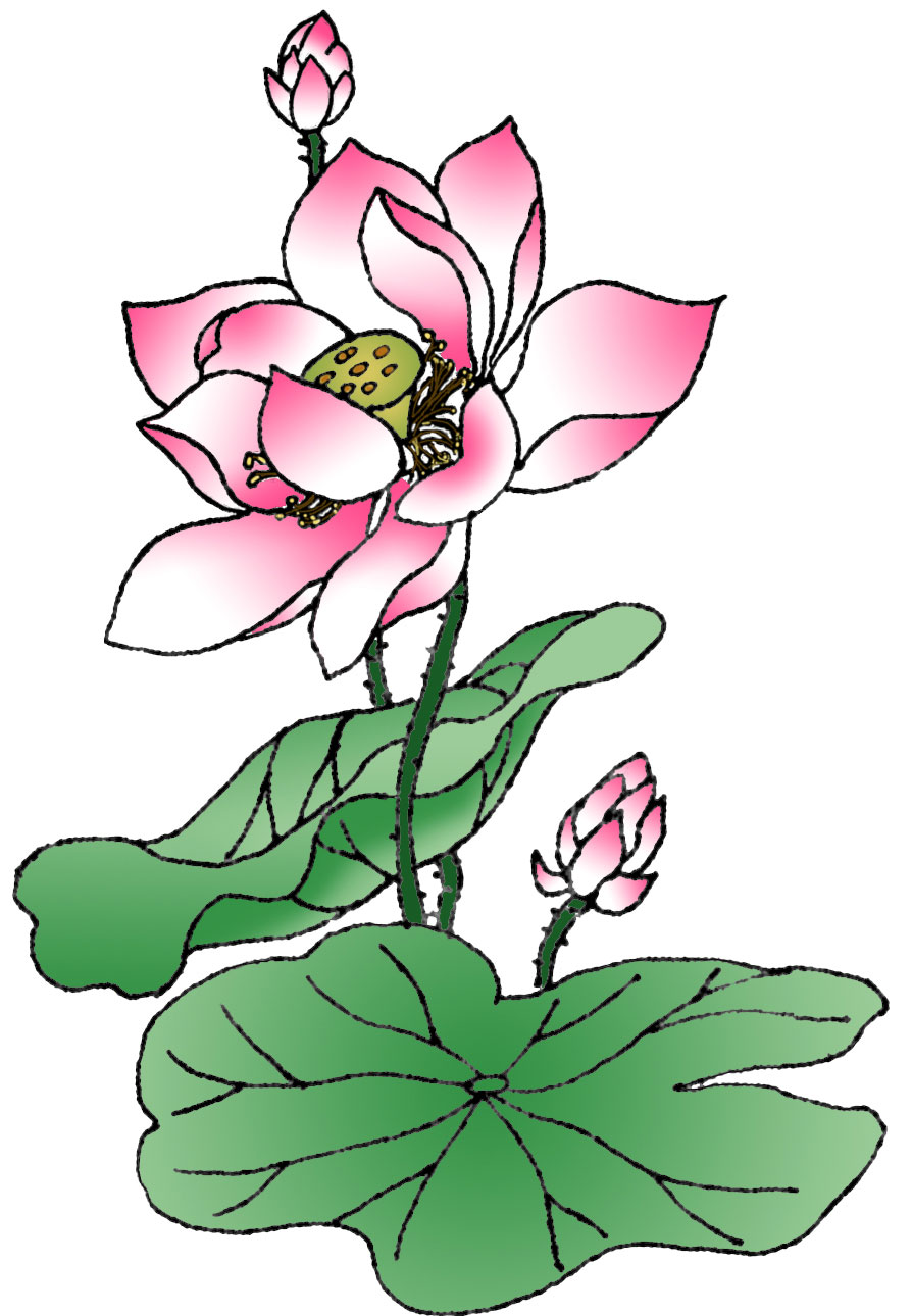free blue lotus flower clip art - photo #30