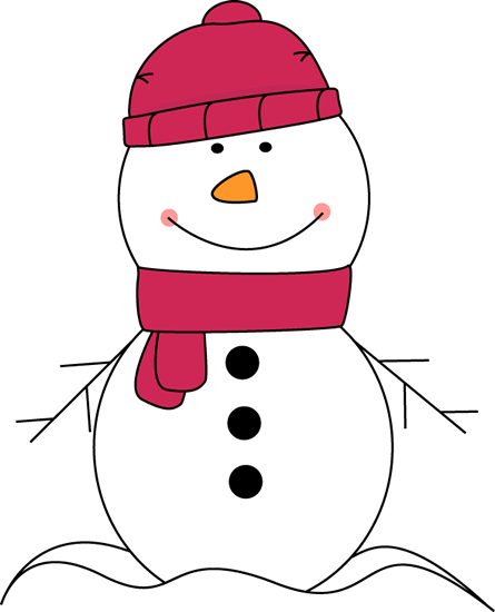 Snowman Wearing Pink Scarf and Hat Clip Art - Snowman Wearing Pink ...