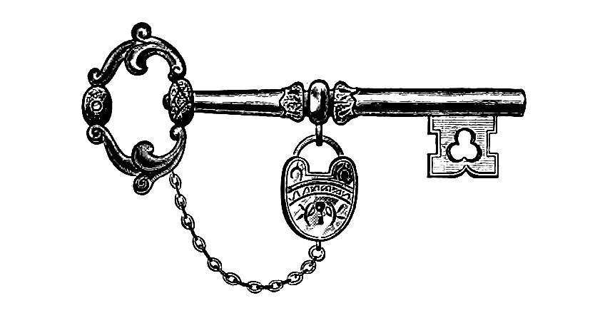 Free Skeleton Key Clipart